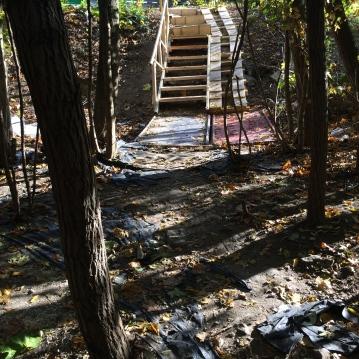 Système b - Escalier et rampe d'accès