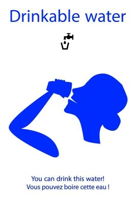 Système b - affiche eau potable